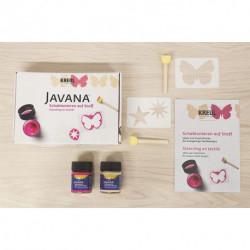 Набор для росписи тканей с помощью шаблонов Javana