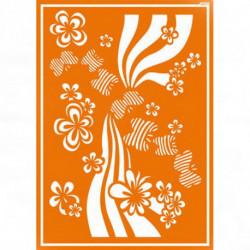 """Трафарет для текстильных красок """"Праздник цветов"""""""""""