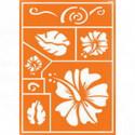 """Трафарет для текстильных красок """"Гавайские цветы"""""""
