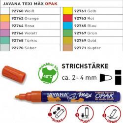 Маркер Texi max Opak Белый/ для темных тканей