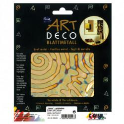 "Поталь Home Design ART DECO/ 6 листов 140х140/ ""Ретро"", золото"