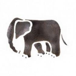 """Трафарет универсальный 7*10 см. """"Слон"""""""