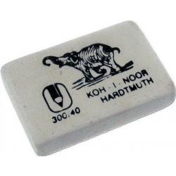 Ластик KOH-I-NOOR ELEPHANT 300/40 каучук 8х36х23мм белый прямоуг.