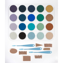 Набор ультрамягк. пастели PanPastel (с диском), 20 цв., /Seascape Painting